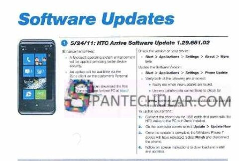 HTC Arrive to get security update