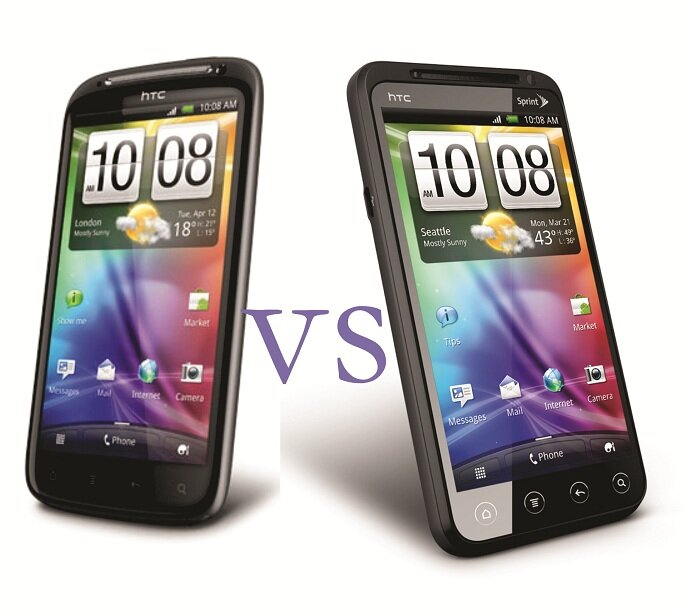 HTC Sensation vs. HTC Evo 3D