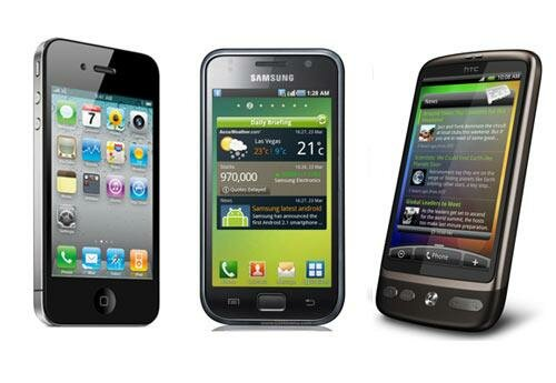 iphone samsung htc