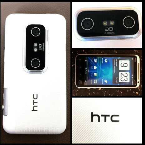 White HTC Evo 3D