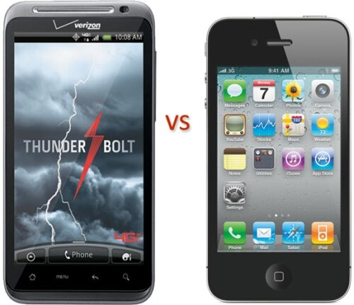 thunderbolt vs ihone 4 2