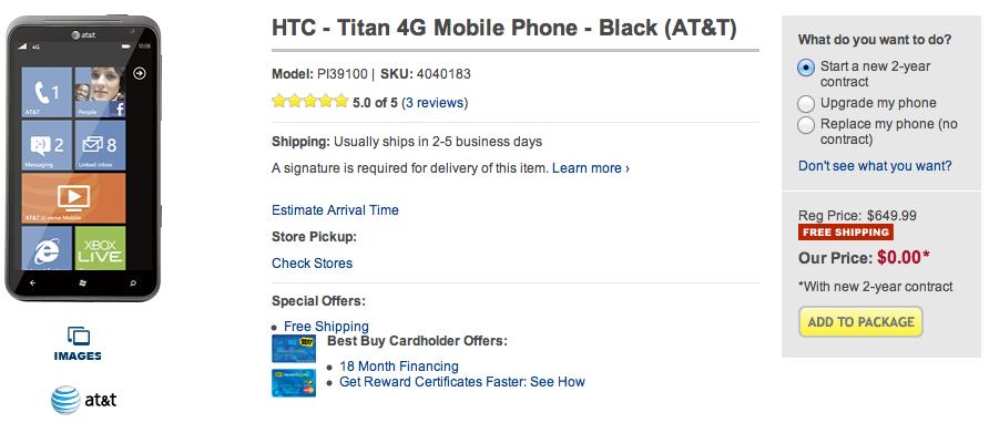 htc titan Best buy