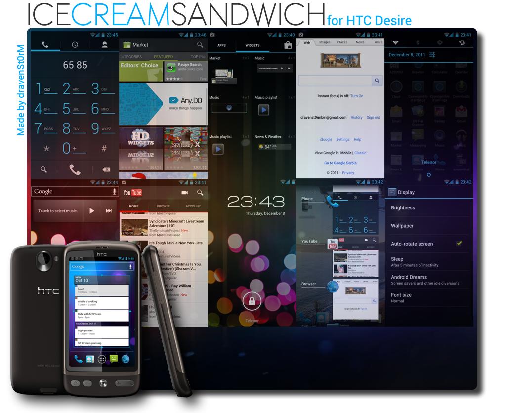 HTC Desire ICS ROM