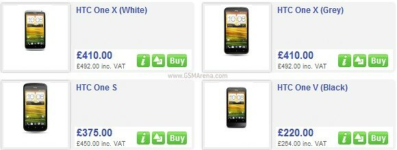 HTC One line pricing