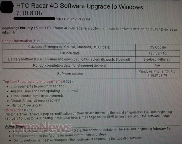 T-Mobile-HTC-Radar-4G-software-update