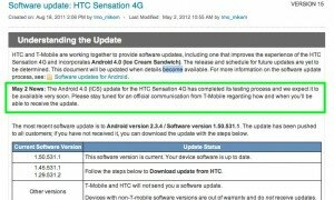 T-Mobile HTC Sensation 4G to get Android 4.0 soon